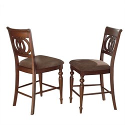 Steve Silver Dolly Counter Stool in Medium Brown Cherry