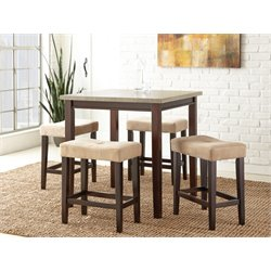 Steve Silver Aberdeen 5 Piece Counter Dining Set in Light Driftwood