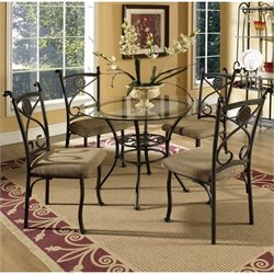 Steve Silver Company Brookfield Round Glass Dining Table