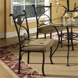 Steve Silver Brookfield  Dining Chair in Light Brown