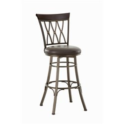 Steve Silver Bali Leather Swivel Stool 2