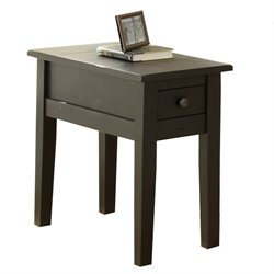 Steve Silver Liberty Chairside End Table in Antique Black