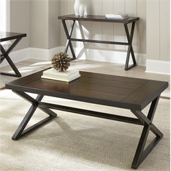 Steve Silver Omaha Coffee Table in Dark Cherry