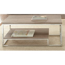 Steve Silver Lucia Coffee Table in Brown