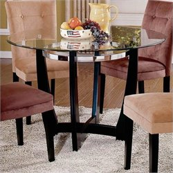 Steve Silver Company Matinee Dining Table and Chairs in Camel