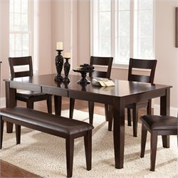 Steve Silver Victoria 5 Piece Dining Room Table Set in Espresso