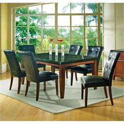 Steve Silver Bello 7 Piece Granite Dining Set in Cherry