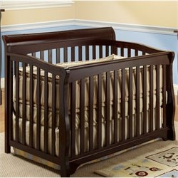 Sorelle Florence 4 In 1 Crib with Mini Rail in Espresso