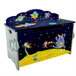 Fantasy Fields Outer Space Wooden Toy Chest with Safety Hinges
