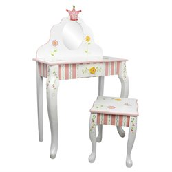 Fantasy Fields Princess and Frog 2 Piece Kids Vanity Set