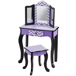 Teamson Kids Fashion Prints Table and Stool Set