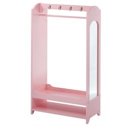 Teamson Kids Windsor Dress Up Unit with Hooks in Pink
