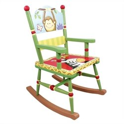 Fantasy Fields Hand Painted Sunny Safari Rocking Chair