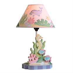 Fantasy Fields Under the Sea Wooden Table Lamp
