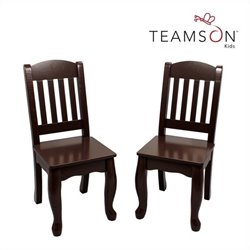 Teamson Kids Windsor Set of 2 Wooden Chairs in Espresso