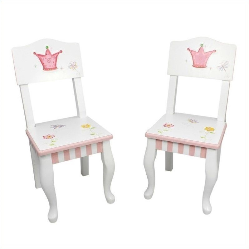 Fantasy Fields Hand Painted Princess and Frog Set of 2 Chairs