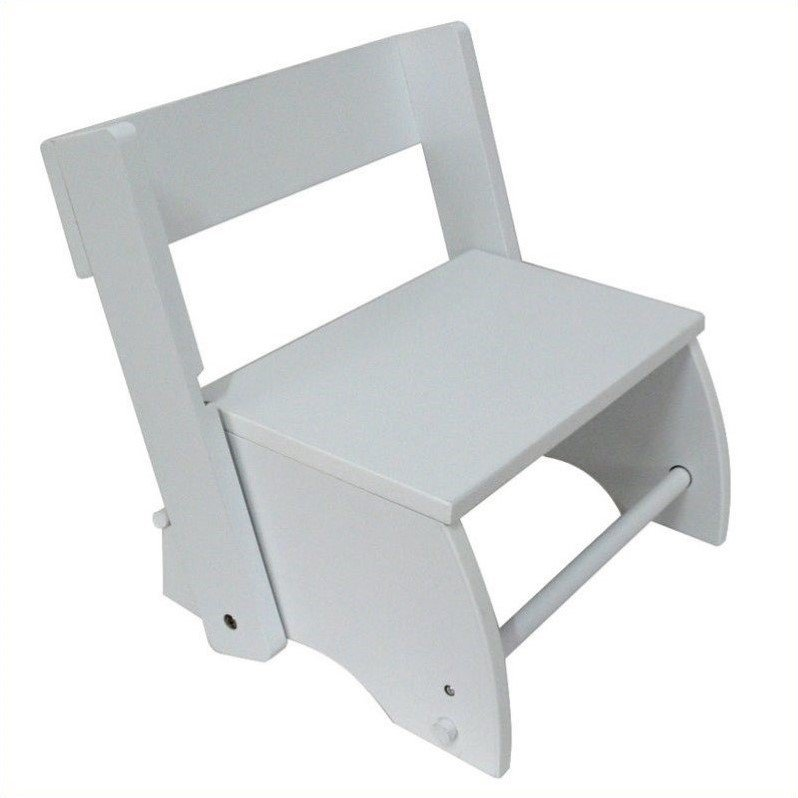 Teamson Kids Hand Painted Large Windsor Step Stool in White