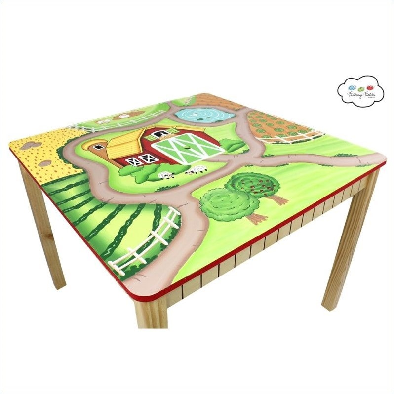 Fantasy Fields Hand Painted Happy Farm Table and Set of 2 Chairs