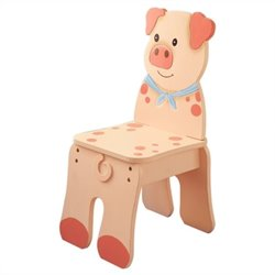 Fantasy Fields Hand Painted Happy Farm Chair in Pig