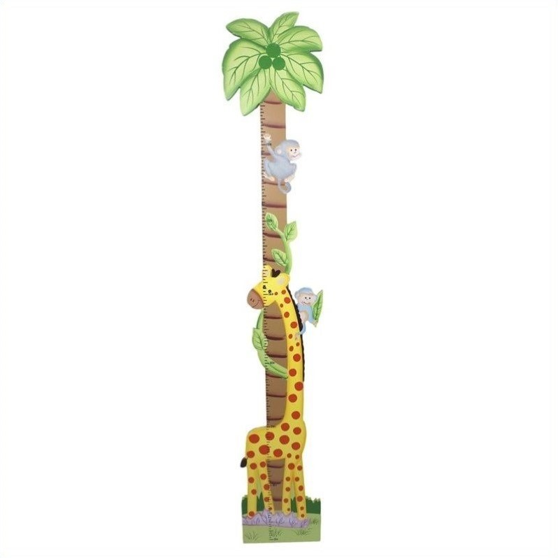 Fantasy Fields Hand Carved Sunny Safari Growth Chart