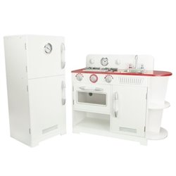 Teamson Kids Classic Play Kitchen in White