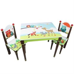 Fantasy Fields Enchanted Woodland 3 Piece Table & Chairs Set