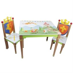 Fantasy Fields Knights & Dragons 3 Piece Table and Chairs Set