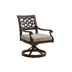 Black Sands Patio Swivel Dining Chair