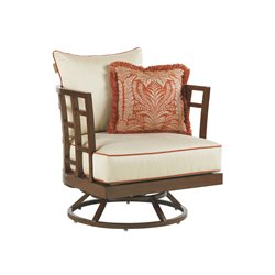 Tommy Bahama Ocean Club Resort Patio Swivel Lounge Chair in Beige