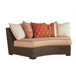 Tommy Bahama Ocean Club Pacifica Patio Armless Curve Sofa in Sienna