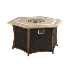 Tommy Bahama Island Estate Lanai Patio Gas Fire Pit in Rich Tobacco