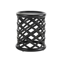 Tommy Bahama Kingstown Sedona Round Patio End Table in Ebony