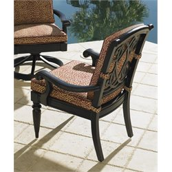 Tommy Bahama Kingstown Sedona Patio Dining Chair in Ebony