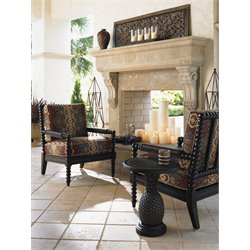 Tommy Bahama Kingstown Sedona 3 Piece Patio Bistro Set in Ebony