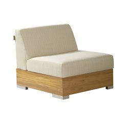 Tommy Bahama Tres Chic Patio Armless Chair in White