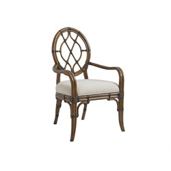 Tommy Bahama Bali Hai Cedar Key Dining Arm Chair in Warm Brown