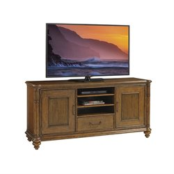 Tommy Bahama Bali Hai Pelican Cay TV Stand in Warm Brown