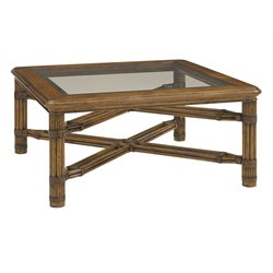 Tommy Bahama Bali Hai Capri Square Coffee Table in Warm Brown