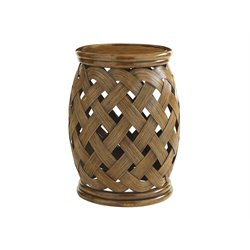 Tommy Bahama Bali Hai Hibiscus Round End Table in Warm Brown