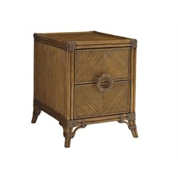 Tommy Bahama Bali Hai Bungalow End Table in Warm Brown