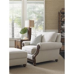 Tommy Bahama Bali Hai Shoreline Upholstered Chair in Warm Brown