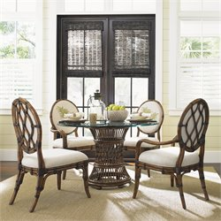 Tommy Bahama Bali Hai Dining Set in Warm Brown 48