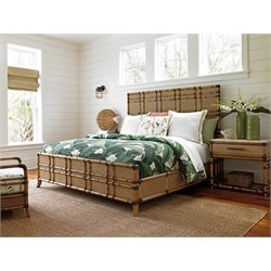 Tommy Bahama Twin Palms Coco Bay Panel Bed In Brown