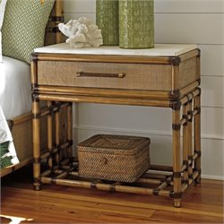 Tommy Bahama Twin Palms Cordoba Open Nightstand in Brown