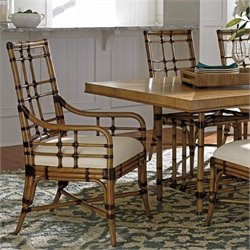 Tommy Bahama Twin Palms Seaview Dining Arm Chair in Brown