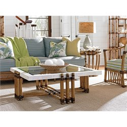 Tommy Bahama Twin Palms Weston Square Coffee Table in Brown