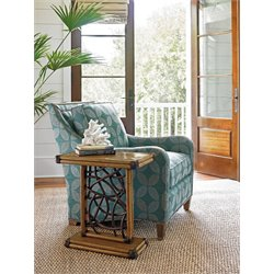 Tommy Bahama Twin Palms Angler Accent Table in Brown