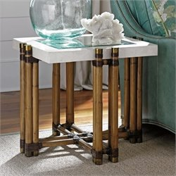 Tommy Bahama Twin Palms Los Cabos Lamp Table in Brown