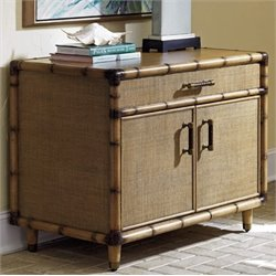 Tommy Bahama Twin Palms Larimar 2 Shelf Storage Chest in Brown