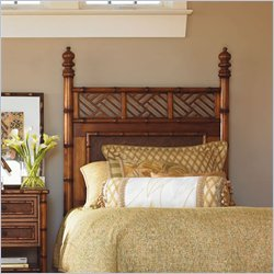 Tommy Bahama Home Island Estate West Indies Twin Poster Headboard in Maple Finish